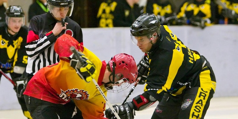 Playing Inline Hockey
