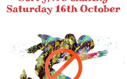 NO Public Skating - Saturday 16th October