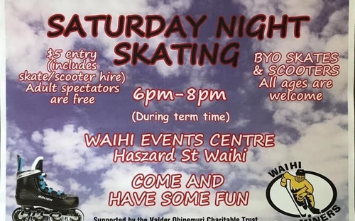 Saturday Night Skating is on again!